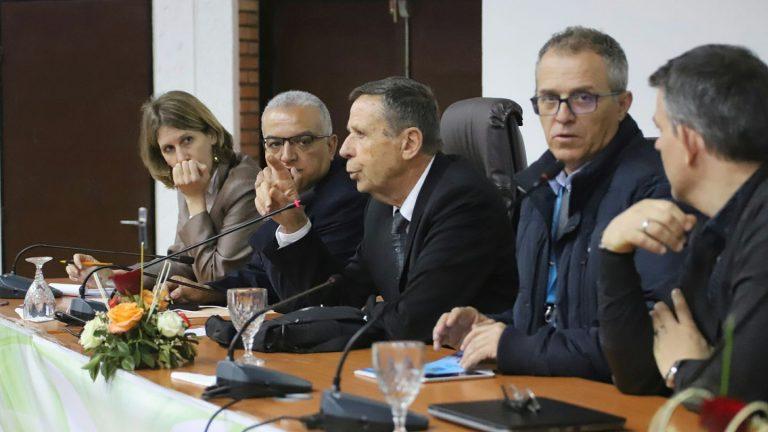 Ticemed 11 colloque avec Philippe Dumas. Université Cadi Ayyad Marrakech, Maroc