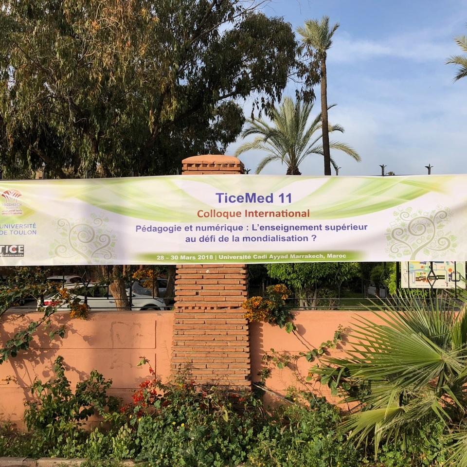 Bannière Ticemed 11 Colloque international, Pédagogie et numérique : L'enseignement supérieur au défi de la mondialisation. Université Cadi Ayyad Marrakech, Maroc