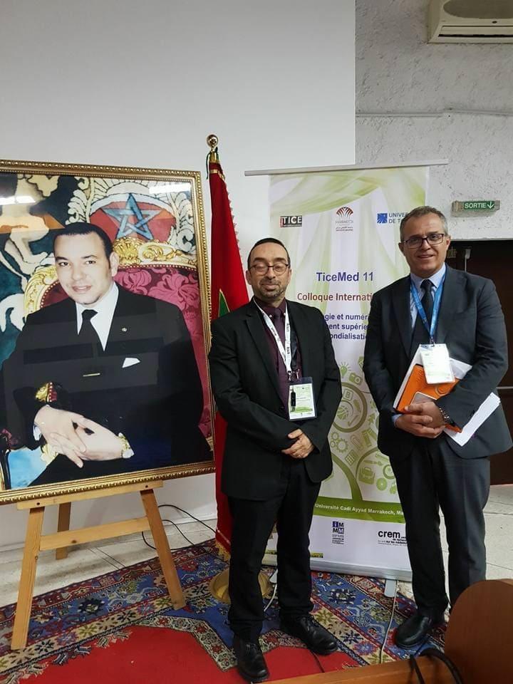 La scène pendant le colloque Ticemed 11. Université Cadi Ayyad Marrakech, Maroc
