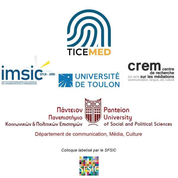 Logo Ticemed 12 (Athènes) L'education aux medias tout au long de la vie : des nouveaux enjeux pédagogiques à l'accompagnement du citoyen. Colloque International 7 – 9 Avril 2020 Athènes, Grèce